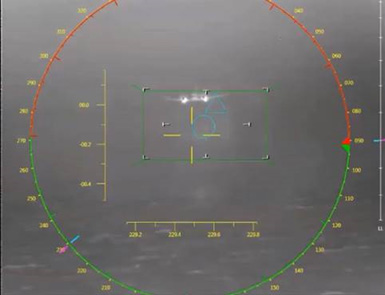 Camera Image of FORT Tracking a Low-Flying Aircraft