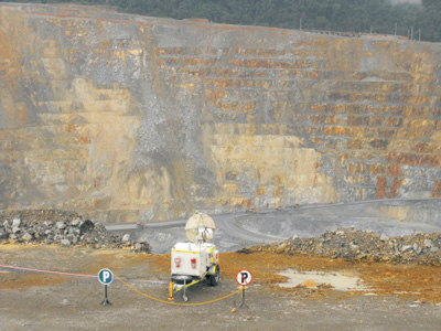 MSR 300 deployed at Batu Hijau mine