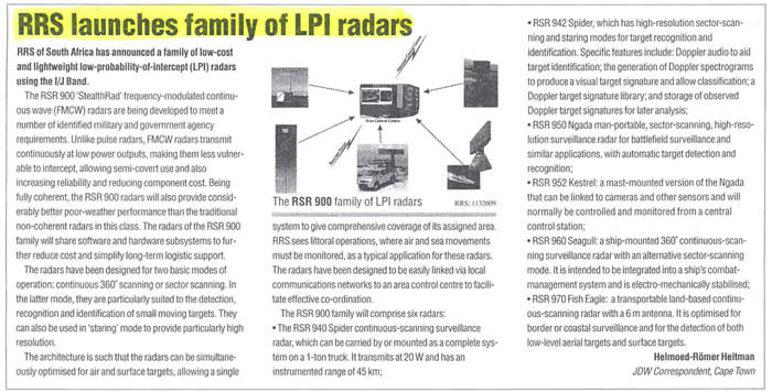 Stealthrad radars news article